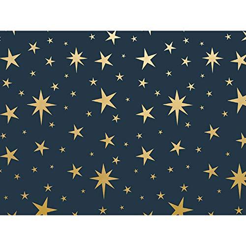 Metallic Nativity Star 30'' x 150' Gift Wrap Roll