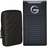 G-Technology 1TB G-Drive mobile SSD R-Series - USB-C connectivity (USB 3.1 Gen 2) - 0G06053 and Ivation Protective Hard Drive Sleeve