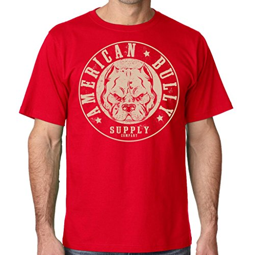 American Bully Supply Company Men's Big Block Tee Shirt Large Red