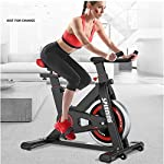 LSYOA-Cyclette-Fermo-Indoor-Cycling-Carico-Regolabile-Sella-Spin-Bike-con-Supporto-Tablet-150kg-Max-capacitaBlack116x102x53cm