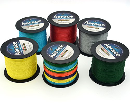 Aorace Braided Line Multicolor Color Braided Fishing Line 4 Strands 1000M Braid Fishing Line 40Lb Super Strong Braid Line PE Line