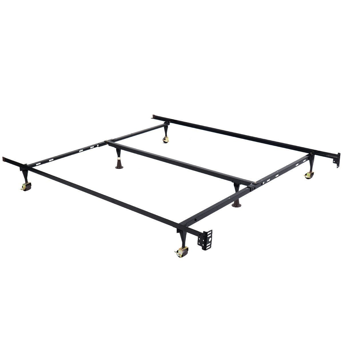 Apontus Metal Bed Frame Adjustable Queen Full Twin Size W/Center Support by Apontus (Image #3)