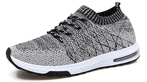 WELMEE Men's Knit Breathable Comfortable Sneakers Lightweight Athletic Tennis Walking Running Shoes – DiZiSports Store