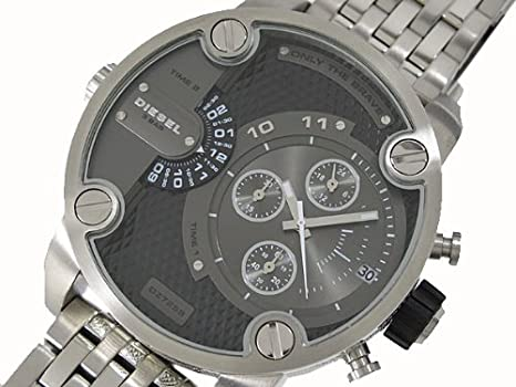 Mens Watch Diesel DZ7259 Only The Brave Dual Time Zone Chronograph  Stainless St  Amazon.co.uk  Watches fd3589f324b