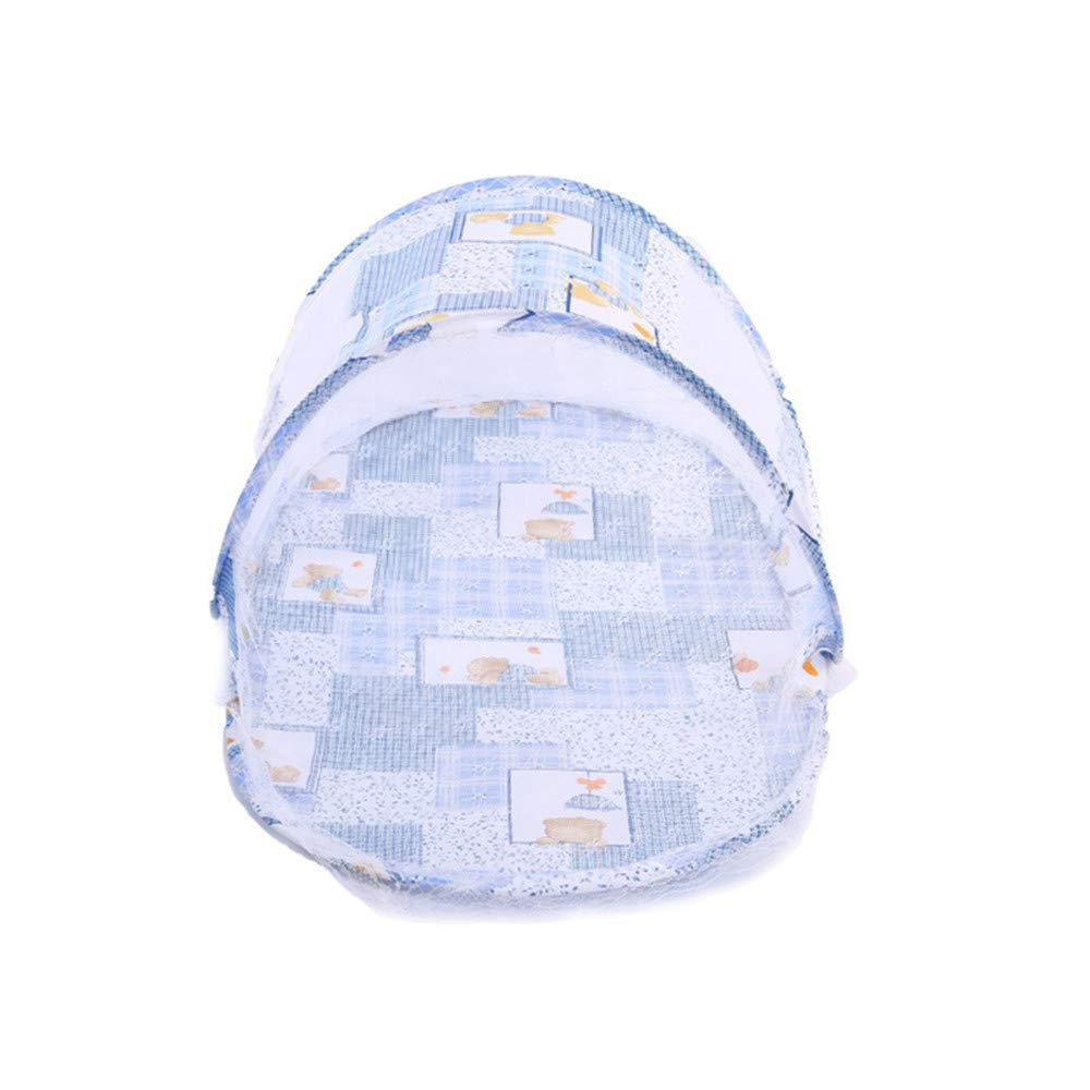 Fliyeong Premium Faltbare Baby-Wiege Wiege Pop-up-Zelt Anti-Bug-Moskitonetz blau