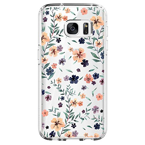 Flyeri Samsung Galaxy S6 Case, Crystal Summer Color Mark Dragon Fruit Orange Flower Girl boy Transparent Clear Soft Silicone TPU Ultra Thin Phone Cover Back Cases for Samsung Galaxy S6 Case (6)