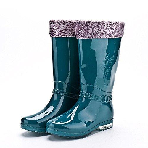 moda da pioggia e L'autunno Green Ms stivali l'inverno wzRPH