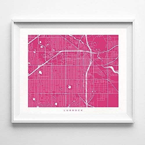 Home Decor Lubbock: Amazon.com: Lubbock Texas Street Road Map Poster Home