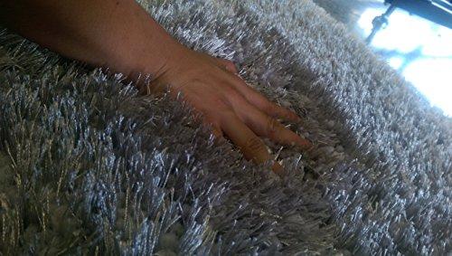 Amazon.com: RUGADDICTION Auténtico y Lujoso Color Turquesa Sólido Shag Gruesa Alfombra Pila, Tamaño 60