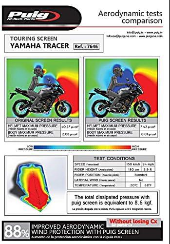 Puig 7646F Touring Dome pour Yamaha MT-09 Tracer 15-17 Fum/é Fonc/é