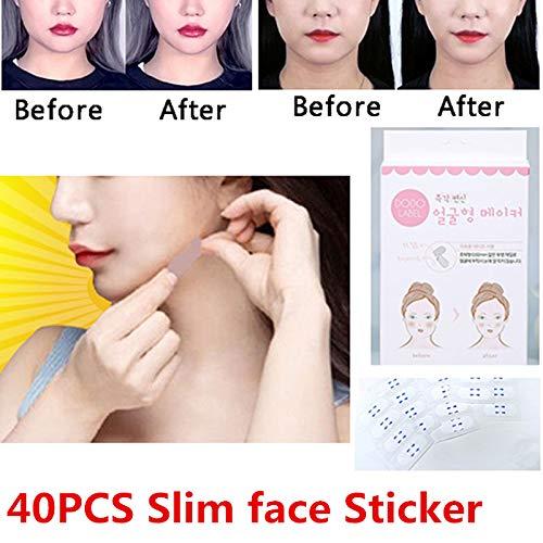 Ocamo Lift Slim Face Sticker Face Invisible Sticker Lift Chin Medical Tape Makeup Beauty Tools - 40PCS/Box