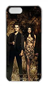 iPhone 5S/5 Case,Clear,Hard PC Plastic Case,Scratch-Resistant(Can be customized)New Version Case,Crystal shell,Back Cover Snap on Case,Unqiue design-Vampire Diaries 35