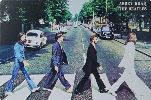 - Pish Posh Llc Vintage Tin Sign (Reproduction) Decor, The Beatles Abbey Road (Album Cover Photo)