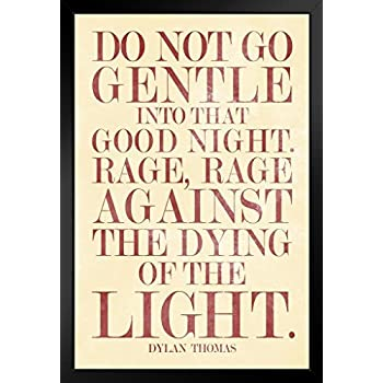 dylan thomas's do not go gentle Do not go gentle into that good night by dylan thomas do not go gentle into  that good night old age should burn and rave at close of day.