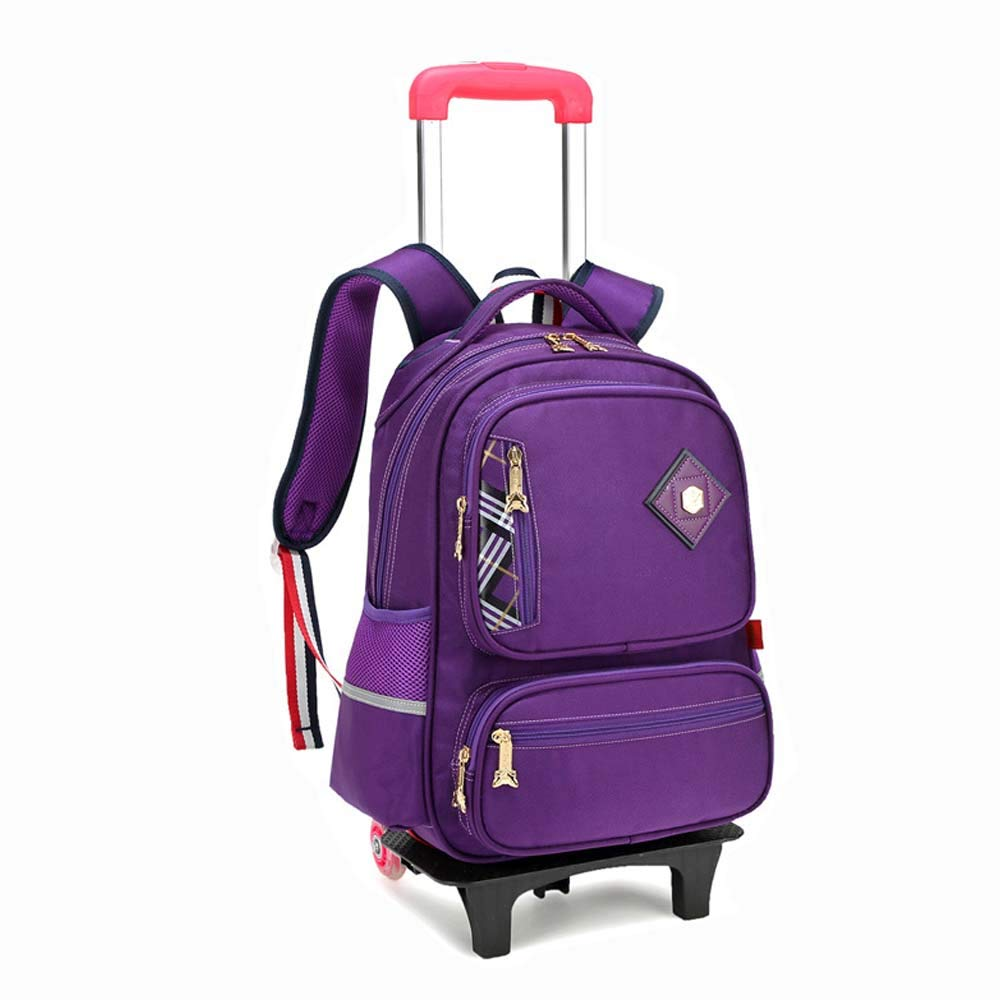 04c93b7db342 Amazon.com: HONGNA Children's Trolley Bag Backpack Two Wheels ...