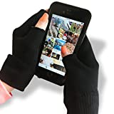 Black Moisturizing Gloves Touch Screen - Eczema Relief - Heals Dry Skin and Cracked Hands Fast - Anti-Aging Hand Treatment - Gel Lining To Moisturize Faster