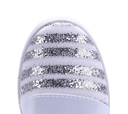 Schuhtempel24 Damen Schuhe Sportliche Ballerinas Flach Glitzer