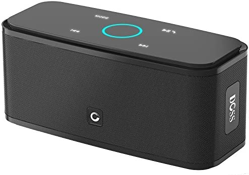 DOSS SoundBox Touch Wireless Bluetooth V4.0 Portable Speaker with HD Sound and Bass, 12H Playtime, Built-in Mic, Portable Wireless Speaker Compatible with Phone, Tablet, TV and Gift Ideas Black