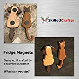 """Skilled Crafter Craft Magnets. 20mm x 3mm (13/16""""). Pack of 200. Grade 5, Round Ferrite/Ceramic Disc Magnet. Best for Art & Craft Projects, Refrigerator, Whiteboard, Bottle Cap, Science etc"""