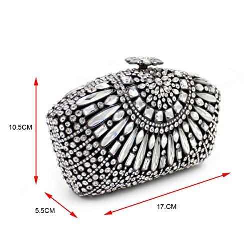Femmes De Luxe De à En Sac Pour D Main Diamant Diamant En Soirée Sac 0XqTd0