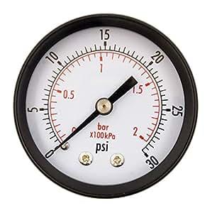 "durachoice 2 ""Dial utilidad Medidor de presión para compresor de aire agua Petróleo Gas"