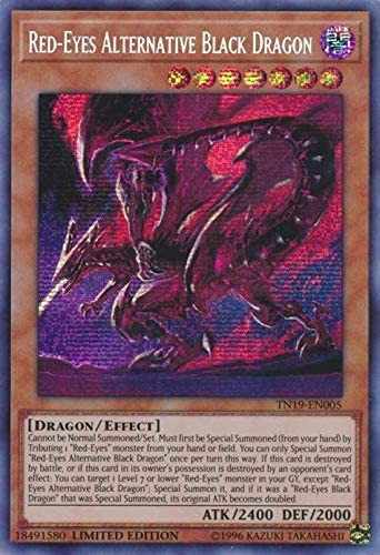Prismatic Secret Played Red-Eyes Alternative Black Dragon TN19-EN005
