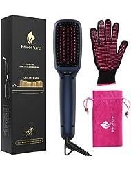 MiroPure Upgraded Ionic Hair Straightener Brush for...