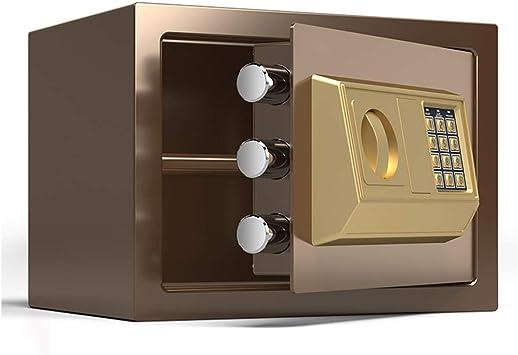 Caja Fuerte Empotrable Caja de seguridad marrón con cerradura de ...
