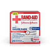 Band-Aid Brand Small Gauze Pads, for Minor Cut and Scrapes, 2 Inches by 2 Inches, 25 Count (Pack of 3)