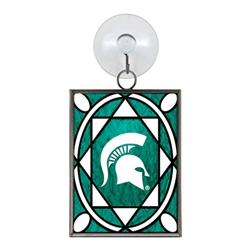 Michigan State Spartans Ornaments (Boelter Brands NCAA Michigan State Spartans Stained Glass Ornament)