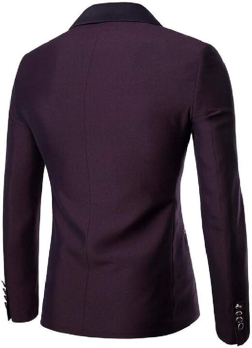 Etecredpow Mens Work Trousers Slim 2PCS Coat Suit Sets