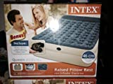 Intex Queen 18'' Pillow Rest Raised Airbed Mattress with BONUS Hand Held Electric Pump