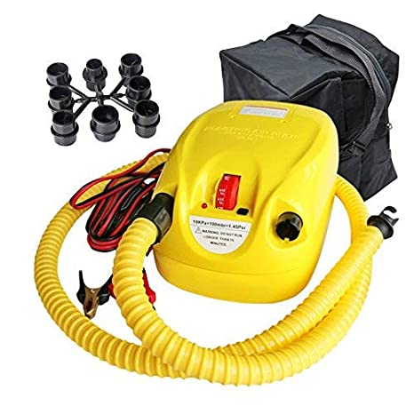 Bomba De Aire Eléctrica Portátil, Bomba De Aire para Colchones Inflables/deflactor para Piscinas/Surf Board Stand Up Paddle, Barcos, Juguetes Hinchable o ...