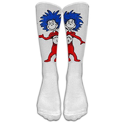 NEW Unisex Thing One And Thing Two Dr Seuss Tube Socks.jpg Athletic Tube Stockings Women's Men's Classics Knee High Socks Sport Long Sock One Size ()