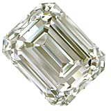 RINGJEWEL 9.86 ct VVS1 Emerald Cut Real Loose Moissanite Use 4 Pendant/Ring Off White Color Stone