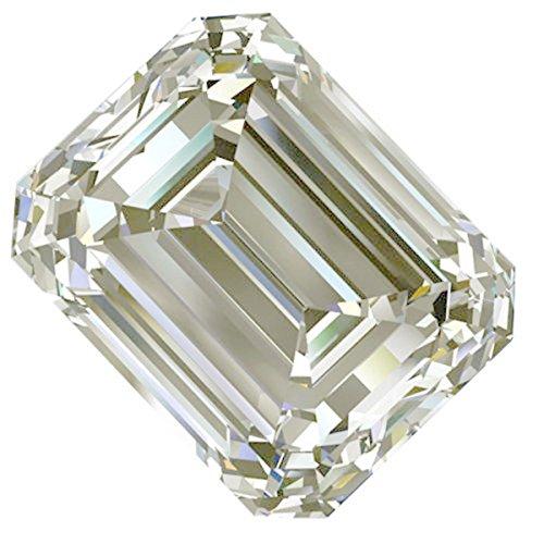 (RINGJEWEL 5.01 ct VVS1 Emerald Cut Loose Moissanite Use 4 Pendant/Ring Genuine White Ice Color)