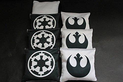 BackYardGamesUSA STAR WARS Custom Cornhole Bean Bags 8 ACA Regulation Corn Hole Bags Great Star Wars party or gift idea