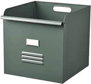IKEA ASIA REJSA Box, Grey-Green, metal32x35x32 cm
