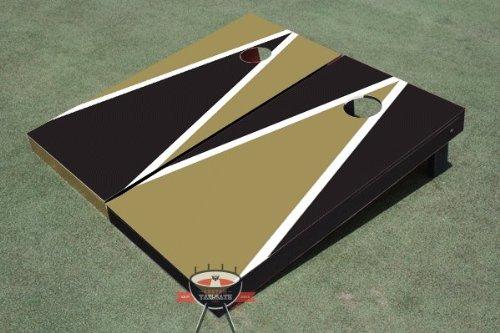 ブラックandダークゴールド交互三角形Corn穴ボードCornhole Game Game Set Set B00CMDKPJY B00CMDKPJY, ダビング専門 DVD保存コムショップ:2a0ea3f4 --- gamenavi.club