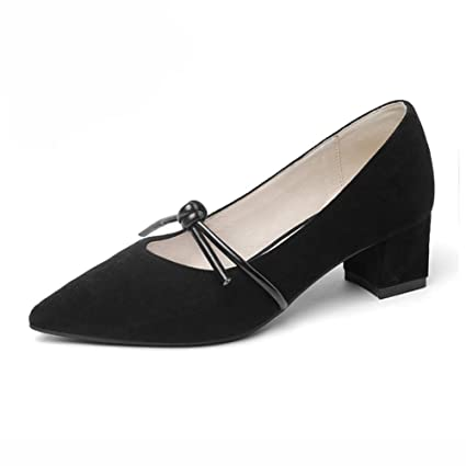 Zapatos para mujer HWF Boca Poco Profunda Zapatos de tacón Alto de Mujer de tacón Medio