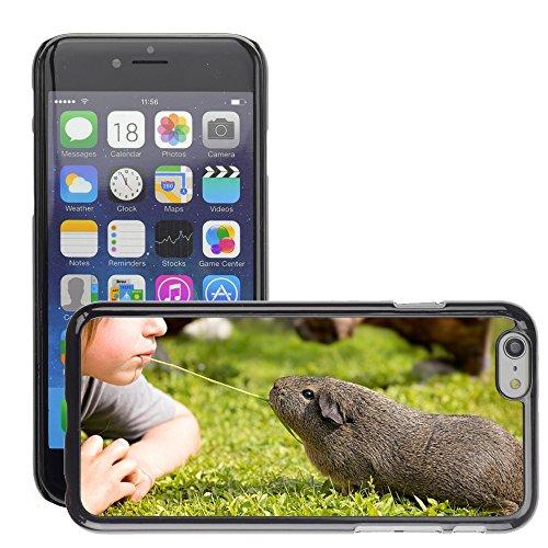 """Just Phone Cases Hard plastica indietro Case Custodie Cover pelle protettiva Per // M00128180 Guinée Pig Lame enfant d'herbe // Apple iPhone 6 PLUS 5.5"""""""