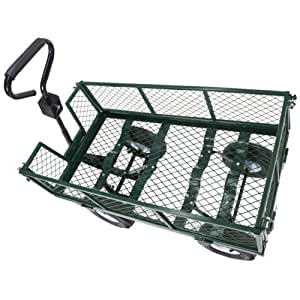 Trendy Heavy Duty Steel Wagon Cart Very Sturdy And Maneuver Easily This Wagon Cart Is The Ideal One For Any Hauling Job Around Your House Backyard Garden 660lb