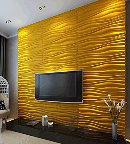 Decoration Brick Design Wall Decor, PVC 3D Wall Panels, Textured Modern Design for TV Walls/Bedroom/Living Room Sofa,10pc