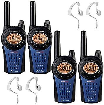 Cobra MT975 Walkie Talkie - Quad Pack + 4 HEADSETS: Amazon.es: Electrónica