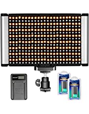 Neewer Kamera-Video-Licht-Set, dimmbar, 280 LED-Panel CRI 96+ 3200-5600K, 2 wiederaufladbare Li-Ionen-Akku und USB-Ladegerät für DSLR-Kamera, Fotostudio, Fotografie, YouTube-Videoaufnahmen