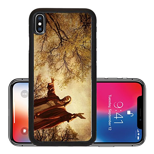 Statue No Arms (Liili Premium Apple iPhone X Aluminum Backplate Bumper Snap Case Statue of Jesus with outstretched arms Photo 8244026)