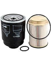 Auto Safety 6.7 Cummins Fuel Filter Water Separator Set Compatible With 2013-2017 Dodge Ram 2500 3500 4500 5500 Diesel Trucks