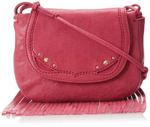 Juicy Couture Fringe Cross-Body Bag,Frozen Berry