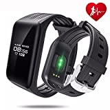 Fitness Tracker, TIISON K1 CHR Smart Watch Activity Counter Heart Rate Monitor Sleep Monitor Calorie Smart Watch Reminder For Sale