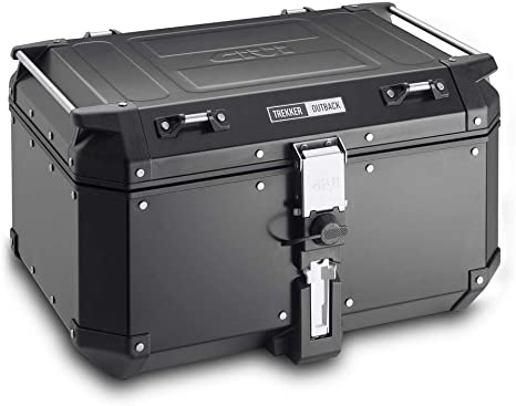 Amazon.com: Baúl trasero negro de 58 litros Givi ...